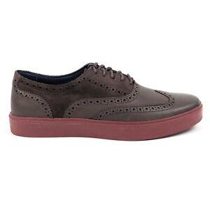 Cole Haan Bergen Wingtip Oxford Chestnut Suede Brown Mens 9.5 Shoes Low C11684