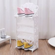 Doll Shoe Rack House Accessories for Barbie Furniture Children Toys Storage