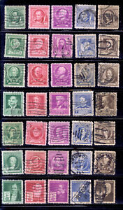 FAMOUS AMERICANS 35 Stamps Complete Set 1940 US #859-93 Used