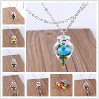 Beauty and the Beast Necklace Rose in Terrarium Pendant Necklace Vogue Jewelry