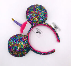 2020 Disney Parks Limited Party Sequins Candle Multicolor Minnie Ears Headband