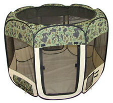 Large Camouflage Pet Dog Cat Tent Puppy Playpen Exercise Pen Kennel