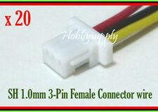 JST-SH 1.0mm 3-Pin Female Connector Housing 100mm wire for RC AR6400 DSM2 x 20