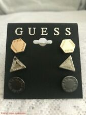 Guess GEO Trio Stud Set Earrings Rose Gold & Silver-tone Brand New GIFT IDEA