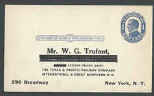 Ca 1911 PC The Texas & Pacific Railway Co Intl Great Northern RR See Info