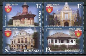 Romania Architecture Stamps 2020 MNH Cities Botosani Tourism Buildings 4v Set
