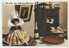 Postcard, France, Recette du Gateau Breton, Posted 1973