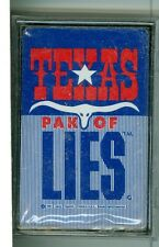 "Sealed Deck ""Texas Pak of Lies"" Playing Cards, 1994, Henry Traywick, Political"