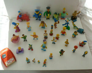 34 SIMPSONS ACTION FIGURES BUNDLE & TOP TRUMPS PACK - MINI AND LARGE