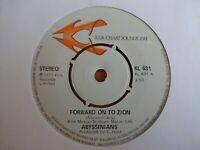 "🇧🇴 ABYSSINIANS - Forward On To Zion / Satta A Massagana 7"" ROOTS REGGAE 1977"