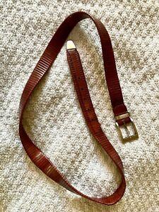 Mezlan leather belt Made in Spain sz 44 - 48