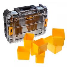 Dewalt Clear Lid Organiser DIY Tool Screw Nail Bit Storage Box TStak DWST1-71194