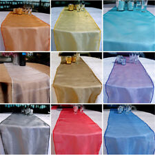 Multi Use Sheer Organza Table Runner Chair Sash Soft Tulle Fabric Wedding Decor