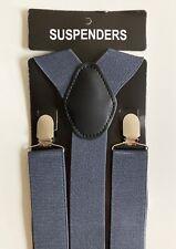 Men's Wide Suspenders Adjustable Y-Back Clip On Elastic Heavy Duty Trouser 1.5