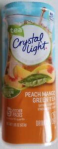NEW CRYSTAL LIGHT PEACH MANGO GREEN TEA DRINK MIX 10 QUARTS FREE WORLD SHIPPING