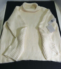 1 State Women's Medium M Turtleneck Sweater Off White Vanila  NWT New With Tags