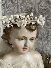 Antik Kleiner Wachsblüten Kranz Wedding Crown Shabby Brocante Chic