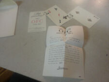 Vintage O.F.C.Three Card Trick with Directions