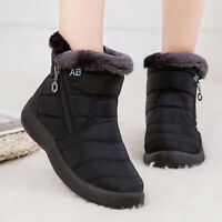 Womens Warm Snow Boots Winter Anti-Slip Ankle Fur Lining Waterproof Winter Shoes