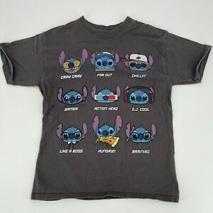Walt Disney World Stitch Graphic T-Shirt Gray Size Kids Medium 10/12