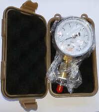 Mitteldruckprüfer Mitteldruckprüfgerät Atemreglerprüfer/Manometer incl.braune B.