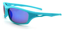 Mohawk BEAR Antislip Coated Sports Cycling Sunglasses Turquoise Blue Y138
