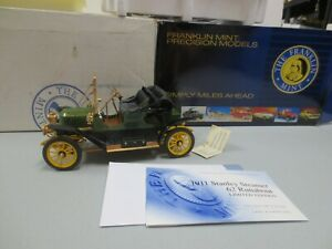 Franklin Mint 1/16 Diecast LIMITED EDITION 1911 STANLEY STEAMER 62 RUNABOUT w/ T