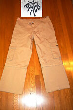 PRANA CARGO PANTS CONVERT TO CAPRI STRETCHY TAN HIKE EXCELLENT! SMALL WM
