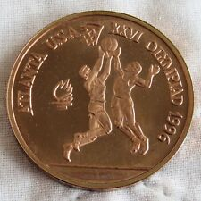More details for romania 1996 basketball olympic games 100 lei copper proof pattern