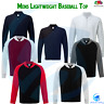 FRUIT OF THE LOOM New Men's Baseball Sweatshirt Full Zip Jacket Lightweight Top