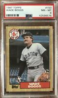 1987 Topps #150 Wade Boggs PSA 8 NM-Mint Condition Boston Red Sox HOF