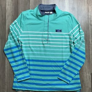 L.L Bean Womens Size Large Soft Cotton Rugby Striped