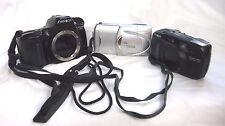 Lot of 3 Cameras 2 Minolta Cameras & 1 Olympus Camera For Parts or Repair