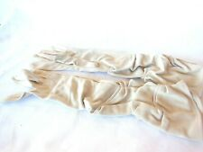 "Vintage Hansen Long Ecru Dress Gloves 15"" Long Nylasuede Sz 6 1/2"