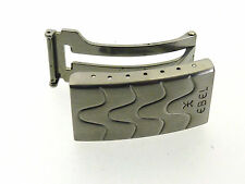 EBEL Sportwave nastro in Pelle Chiusura Fibbia Faltschließe 16 mm acciaio clasp