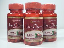 3 Bottles Puritan's Pride Tart Cherry Extract 1000 mg