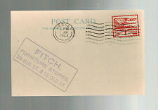 1943 Occupied Jersey Channel Island fdc first day cover Fitch Furniture postcard