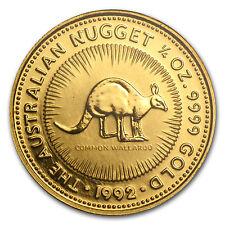 1992 Australia 1/4 oz Gold Nugget BU - SKU #85508