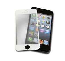 TEMPERED GLASS LCD CLEAR SCREEN PROTECTOR FILM GUARD SHIELD WHITE APPLE IPHONE 5