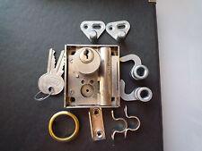 JuNie Drehstangenschloss # 7020 Zylinder Nickel mit Zubehör NEU