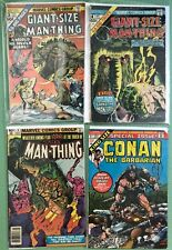 Man-Thing and Conan lot: Giant-Size Man-Thing #3 and #4, King-Size Conan #1