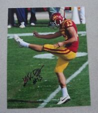 KIRBY VAN DER KAMP SIGNED 8X10 GLOSSY COLOR AUTOGRAPH PHOTO IOWA STATE.