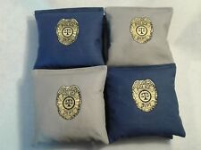 Police Department Cornhole Bags Corn Hole Bags Embroidered Police Officer Gifts