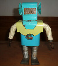 "Rare 1960's Daisa ""FOKI The MARTIAN"" Tin Toy Robot ARGENTINA space toy UNIQUE"