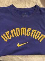 Vintage Nike Kobe Bryant Venomenon Black Mamba Dri-Fit Lakers Shirt Sz XXL