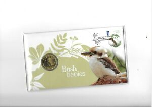 2013 AUSTRALIA $1 BUSH BABIES - KOOKABURRA AUSTRALIA POST COIN ON COVER