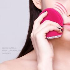 New Electric Facial Cleansing Brush Silicone Sonic Vibration Mini Cleaner Deep