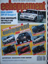 ECHAPPEMENT 1988 PEUGEOT 309 GTI GR.A + 205 RALLYE / VW POLO G40 / 24 H DU MANS
