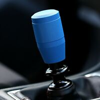 "SSCO KR-3 3"" WRINKLE BLUE STAINLESS STEEL KNURLED SHIFT KNOB WEIGHTED 12x1.25mm"
