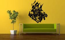 Wall Vinyl Sticker Decals Mural Room Design Art Anime Pirate Ship Sculls bo603